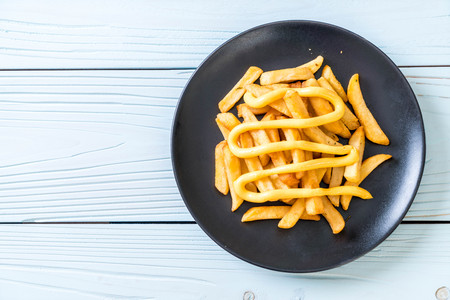 french fries with cheese - unhealthy food