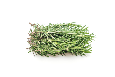fresh rosemary isolated on white background 免版税图像