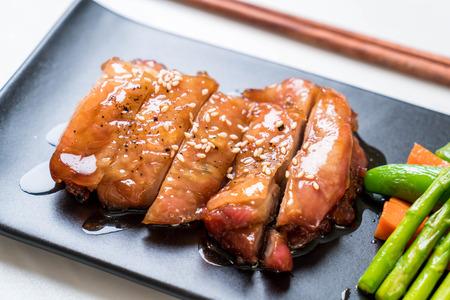 teriyaki chiciken steak - asian food style