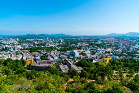 Phuket City Skyline at Rang Hill in Phuket, Thailand