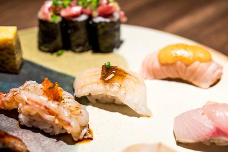 mix raw sushi set - Japanese food style