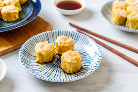Shrimp Chinese Steamed Dumpling with sauce