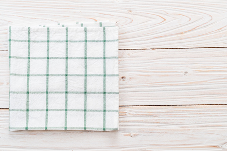 kitchen cloth (napkin) on wood background 版權商用圖片