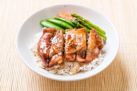 teriyaki chicken rice bowl - asian food style Stock Photo