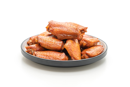barbecue chicken wings isolated on white background Stockfoto