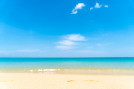 abstract blur and defocus tropical beach and sea in paradise island - Holiday Vacation concept 写真素材