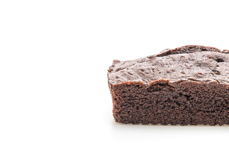 chocolate brownie cake isolated on white background