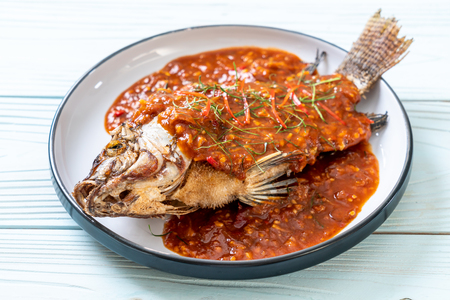 Deep Fried fish with chili sauce