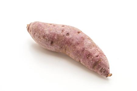 purple sweet potato isolated on white background Stockfoto