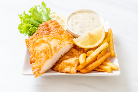 fish and chips - unhealthy food Stock fotó