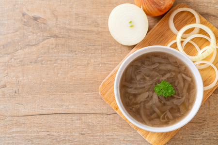 onion soup bowl - healthy food style
