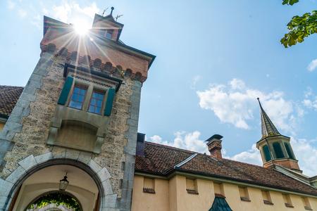 Beautiful Architecture at Oberhofen Castle in Switzerland