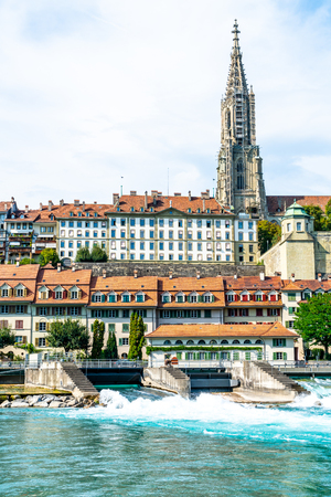 Beautiful Architecture at Bern City and Berner Munster cathedral in Switzerland Banque d'images
