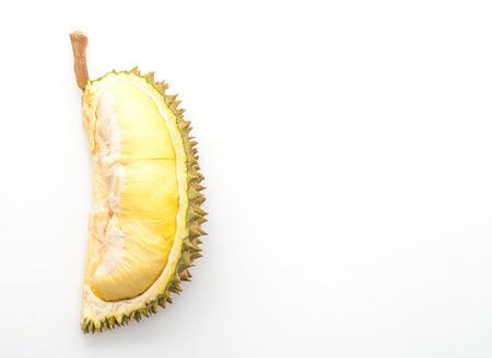 Frutta fresca Durian isolati su sfondo bianco Archivio Fotografico