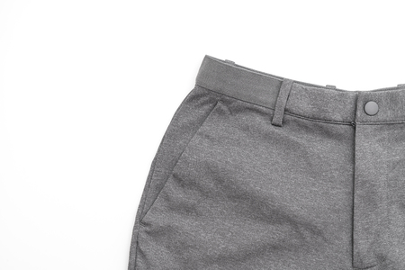 men's grey pants isolated on white background