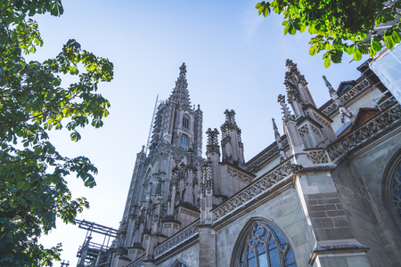 Beautiful Architecture  Berner Munster cathedral in Switzerland Banque d'images