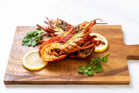 grillowany stek z homara z cytryną Zdjęcie Seryjne