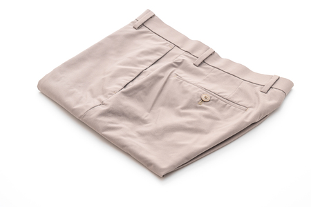 men's beige short pants isolated on white background 版權商用圖片