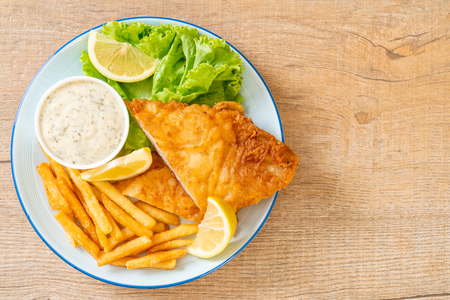 fish and chips - unhealthy food Stockfoto