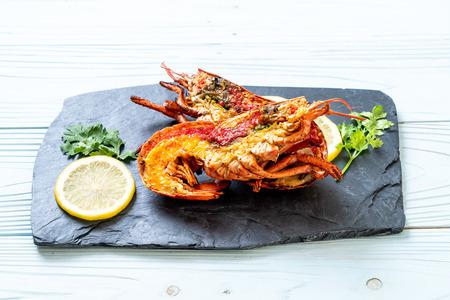 grilled lobster steak with lemon