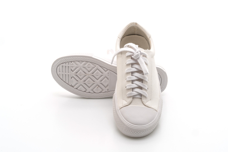white sneakers isolated on white background