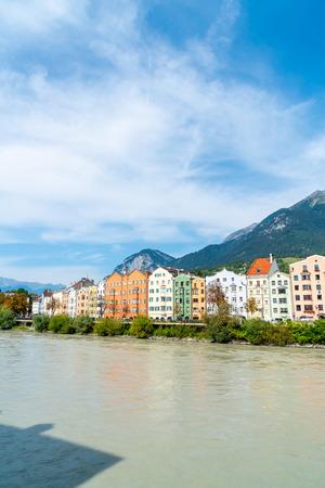Beautiful Town at Innsbruck cityscape, Austria. Editorial