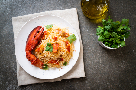 Pasta all'astice or Lobster spaghetti - Italian food