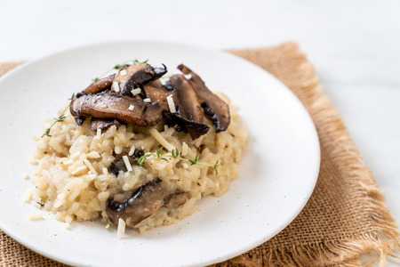 Homemade risotto with mushroom and cheese Stock fotó - 113229825
