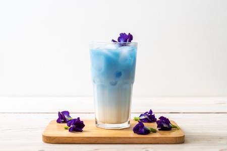 butterfly pea juice with milk - Healthy Drink
