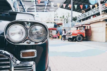 head light of old car - vintage effect filter