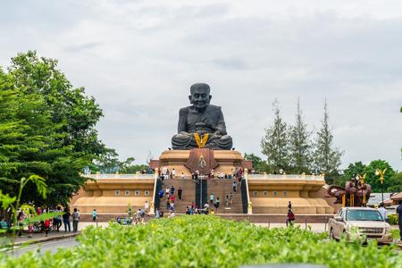 HUA HIN, THAILAND - Dec 10, 2018: Luang Pu Toad Buddha Statue at Wat Huay Mongkol Temple in Thailland.