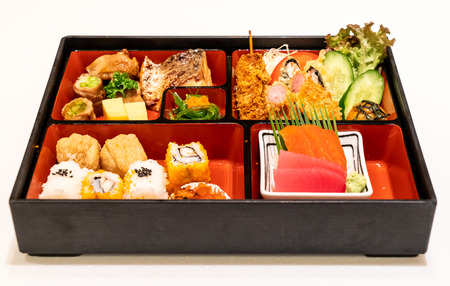 food in bento box set - Japanese food style