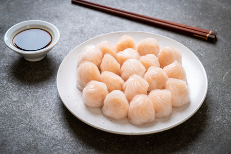 chinese shrimp steamed dumpling - Asian food style