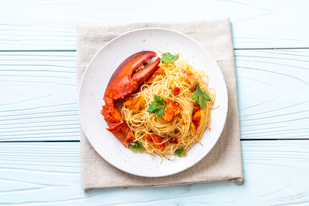 Pasta all'astice or Lobster spaghetti - Italian food