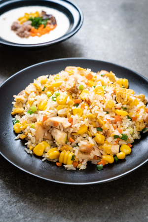homemade fried rice with chicken
