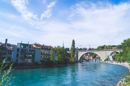Beautiful Architecture at Bern, capital city of Switzerland Stock Photo