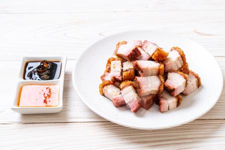 crispy pork belly or deep fried pork