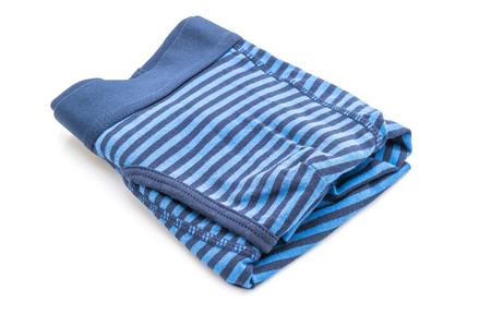 striped men underwear isolated on white background Standard-Bild