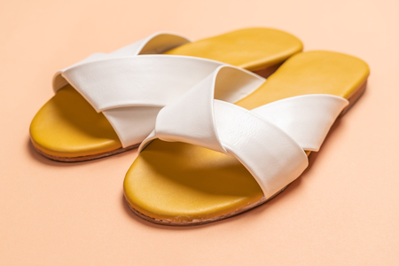 fashion female and woman leather sandals