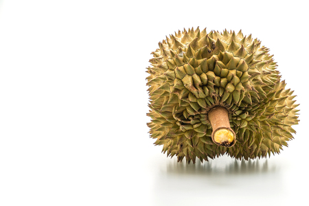 Fresh Durian Fruit isolated on white background Imagens