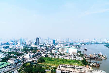 Bangkok City skyline in Thailand Imagens