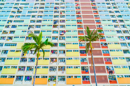 beautiful and colourful architecture building in Hong Kong