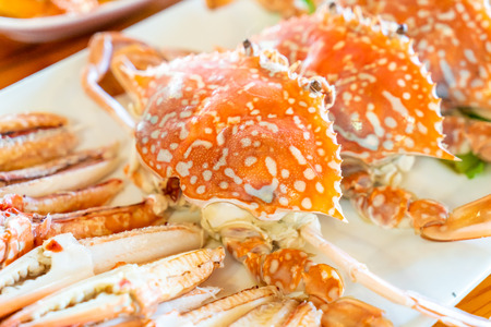Steamed blue crab - Seafood style