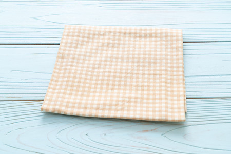 kitchen cloth (napkin) on blue wooden background with copy space 版權商用圖片