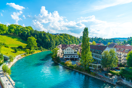 Beautiful Architecture at Bern, capital city of Switzerland Imagens