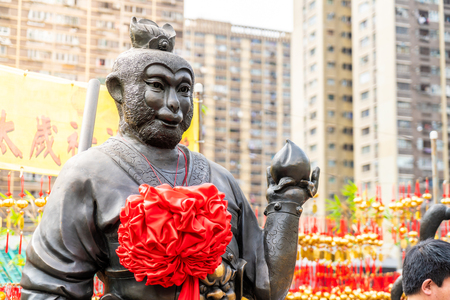 Sik Sik Yuen temple (also called Wong Tai Sin temple) in Hong Kong 写真素材