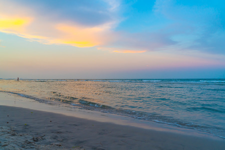 beautiful twilight sky with sea beach - holidays and vacation concept Reklamní fotografie