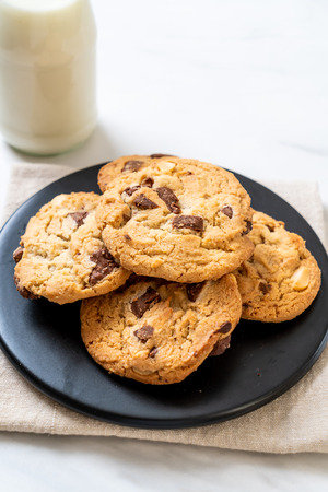 cookies with chocolate chips on plate