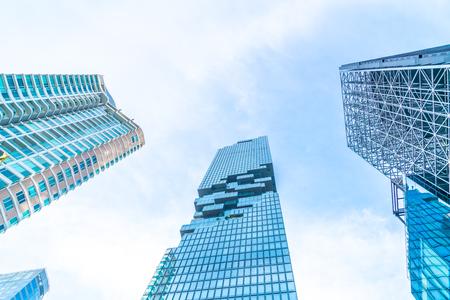 Beautiful architecture business office building exterior skyscraper