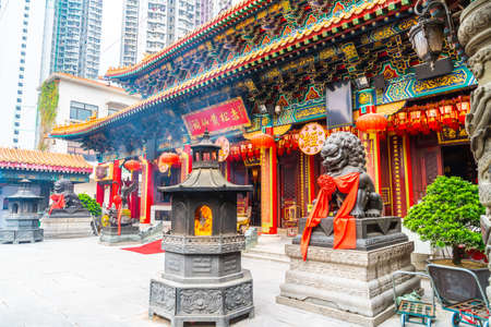 Sik Sik Yuen temple (also called Wong Tai Sin temple) in Hong Kong